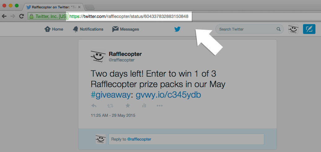 How do I find my Tweet URL? – Rafflecopter Support